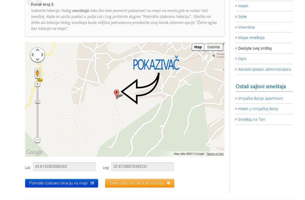 Vrnjacka Banja smestaj - postavljanje oglasa - uputstvo slika 3.
